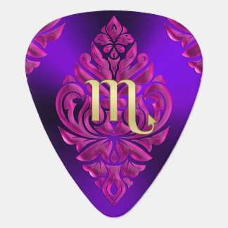 Zodiac Sign Scorpio Pink and Purple Guitar Pick