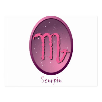 Zodiac sign Scorpio Post Card
