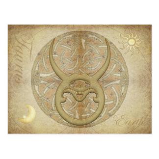 Zodiac Sign Taurus Postcard