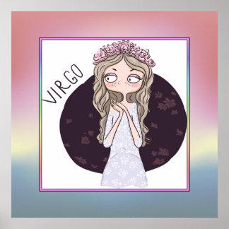 Zodiac Sign - Virgo - August 23 – September 22 Poster
