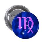 Zodiac sign Virgo Pinback Buttons