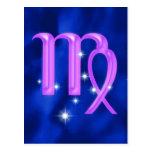 Zodiac sign Virgo Post Card