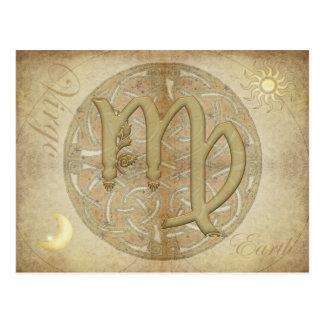 Zodiac Sign Virgo Postcard