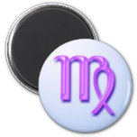 Zodiac sign Virgo Refrigerator Magnets
