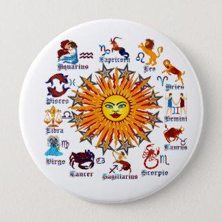 Zodiac-Signs-All-V-1 10 Cm Round Badge