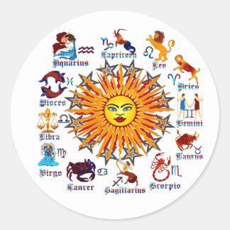 Zodiac-Signs-All-V-1 Round Sticker