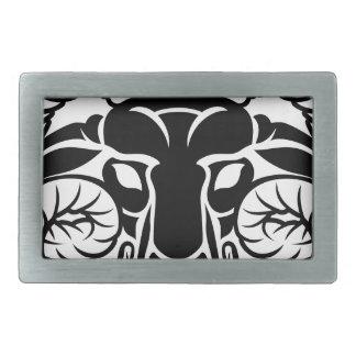 Zodiac Signs Aries Icon Rectangular Belt Buckle