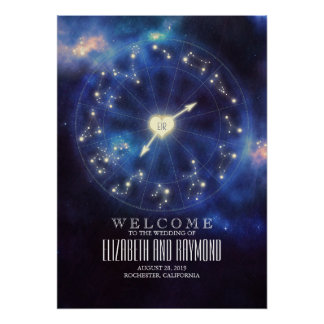 Zodiac Signs | Constellation Wedding Welcome Sign