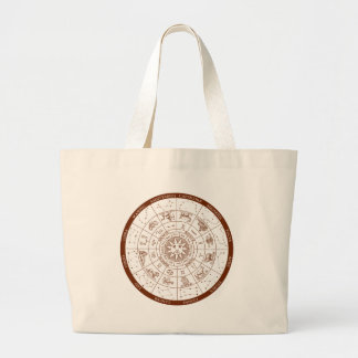 Zodiac signs large tote bag