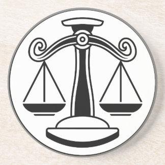 Zodiac Signs Libra Scales Coaster