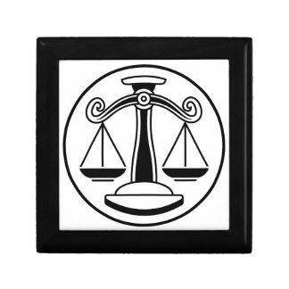 Zodiac Signs Libra Scales Gift Box