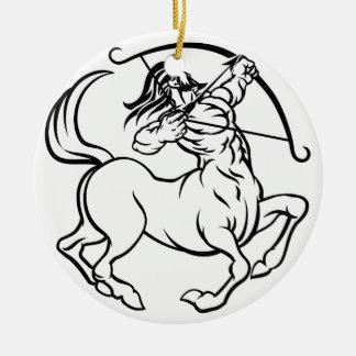 Zodiac Signs Sagittarius Centaur Round Ceramic Decoration