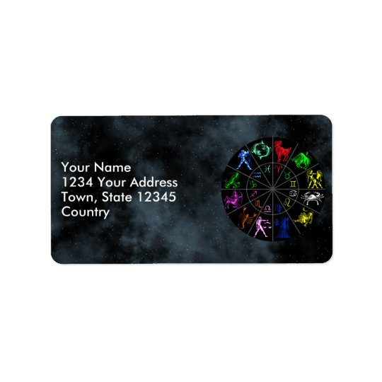 Zodiac signs together address label