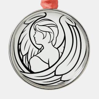 Zodiac Signs Virgo Icon Silver-Colored Round Decoration