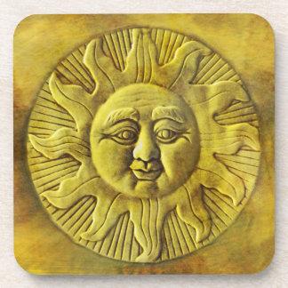 Zodiac Sun Drink Coasters