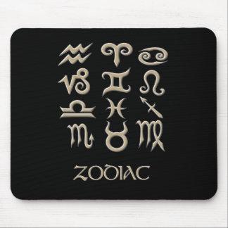 Zodiac Symbol Chart Mouse Pad