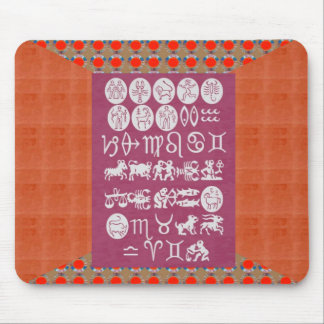 ZODIAC SYMBOL DISPLAY . Elegant GIFT all occasions Mouse Pad