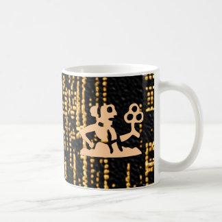 Zodiac Symbols on Gold Sparkle Night Sky Coffee Mugs