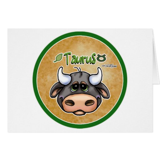 Zodiac - Taurus Greeting Card