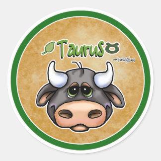 Zodiac - Taurus Classic Round Sticker