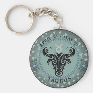 Zodiac Taurus Key Ring