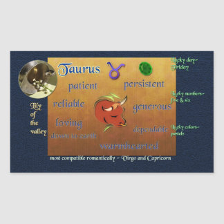 Zodiac Taurus sticker
