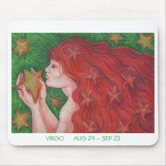 Zodiac Virgo mousepad white border