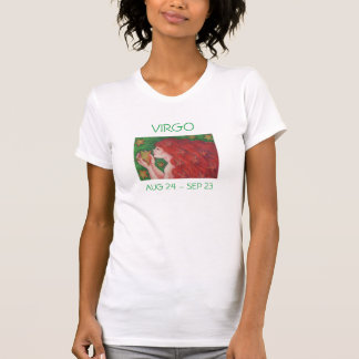 Zodiac Virgo t-shirt ladies text
