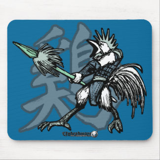 Zodiac Warriors: Year of the Rooster Mouse Mat