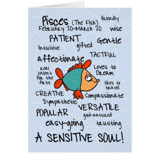 zodiac word cards - pisces