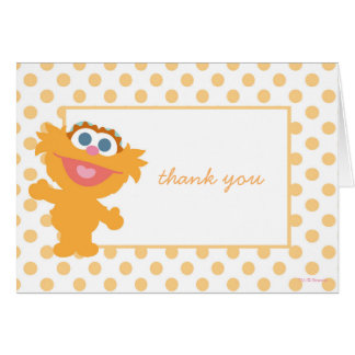 Zoe Baby Shower Thank You Card