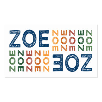 Zoe Cute Colorful Business Card Templates