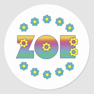 Zoe Flores Rainbow Sticker