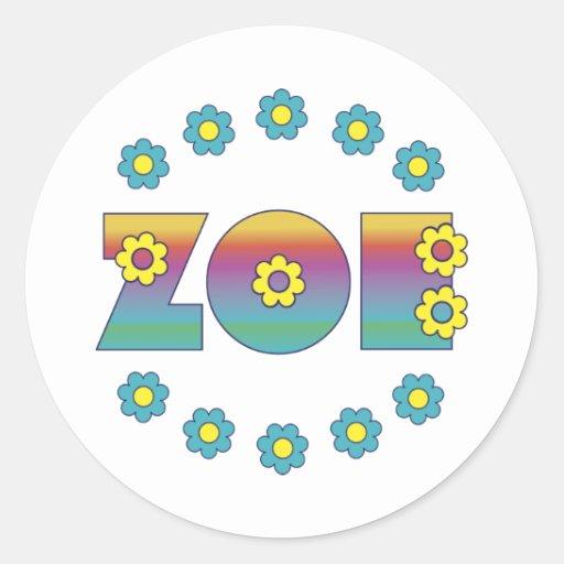 Zoe Flores Rainbow Sticker