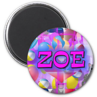 ZOE 6 CM ROUND MAGNET