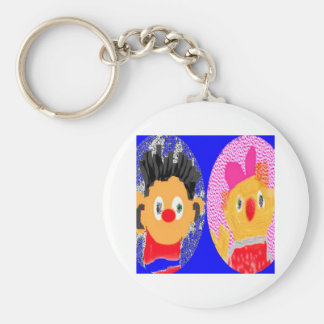 Zoe Moster n Erine R - Win Charles Licensed Galler Basic Round Button Key Ring