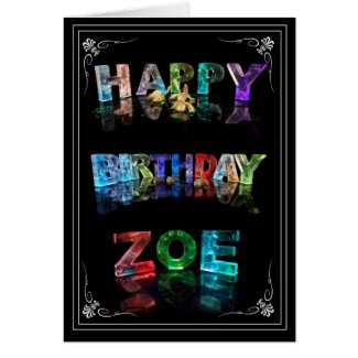 Zoe - Name in Lights greeting card (Photo)