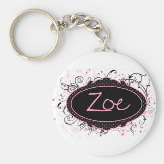 Zoe Nameplate Key Ring