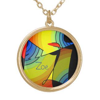 Zoe Round Pendant Necklace