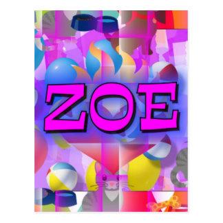 ZOE POSTCARD