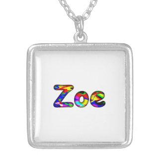 Zoe Square Pendant Necklace