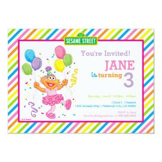 Zoe Striped Birthday 13 Cm X 18 Cm Invitation Card