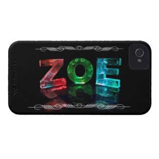 Zoe - The Name Zoe in 3D Lights (Photograph) iPhone 4 Case-Mate Case