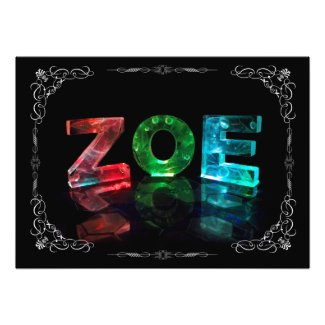 Zoe - The Name Zoe in Photograph)3D Lights (