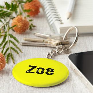 Zoe yellow key chain
