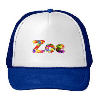 Zoe's blue mesh cap hats