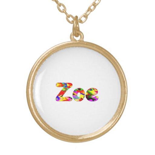 Zoe's necklace