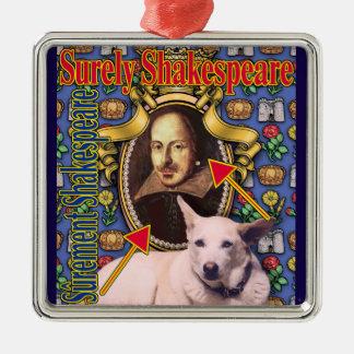 ZoeSPEAK - Surely Shakespeare Christmas Ornament