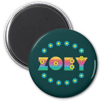Zoey Flores Rainbow 6 Cm Round Magnet