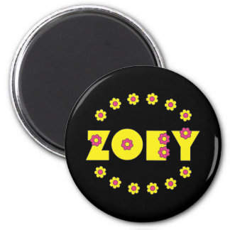 Zoey Flores Yellow Fridge Magnets